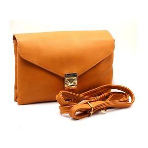 Orange envelope leather purse